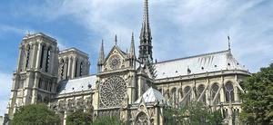 Notre Dame-katedralen i Paris, før brannen i 2019